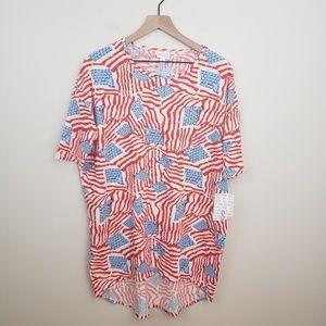 LuLaRoe Tops - Lularoe 》American Flag Irma Tunic Top